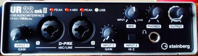 acquisition de la dernière Steinberg UR22 MKII pour la voix-off